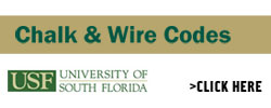 Chalk & Wire codes, USF Logo. Click to learn more.