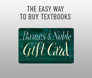 Picture of gift card. The easy way to buy textbooks. Barnes & Noble gift card. Click to shop now.